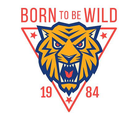 Sport emblem with head od a tiger