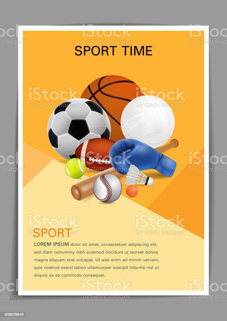 Sport Equipment Poster Design Front Page Web Design Brochure Design ...