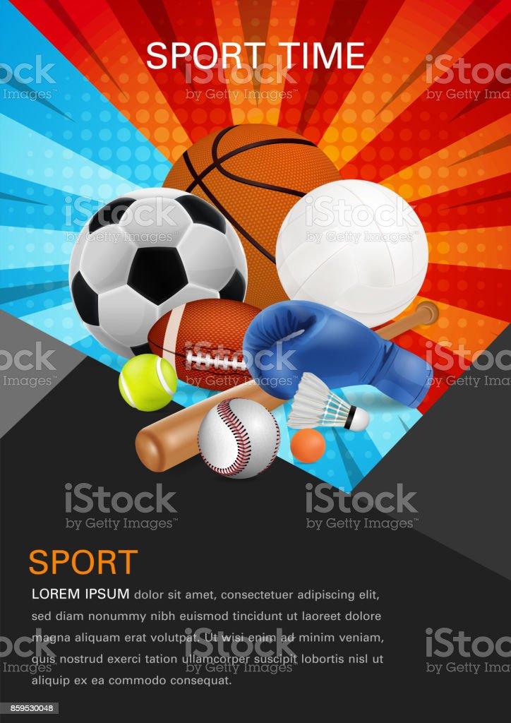 sport equipment poster design front page web design brochure design