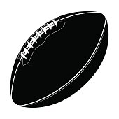 Sport equipment. Rugby ball. American football ball isolated on a white background. Sport game