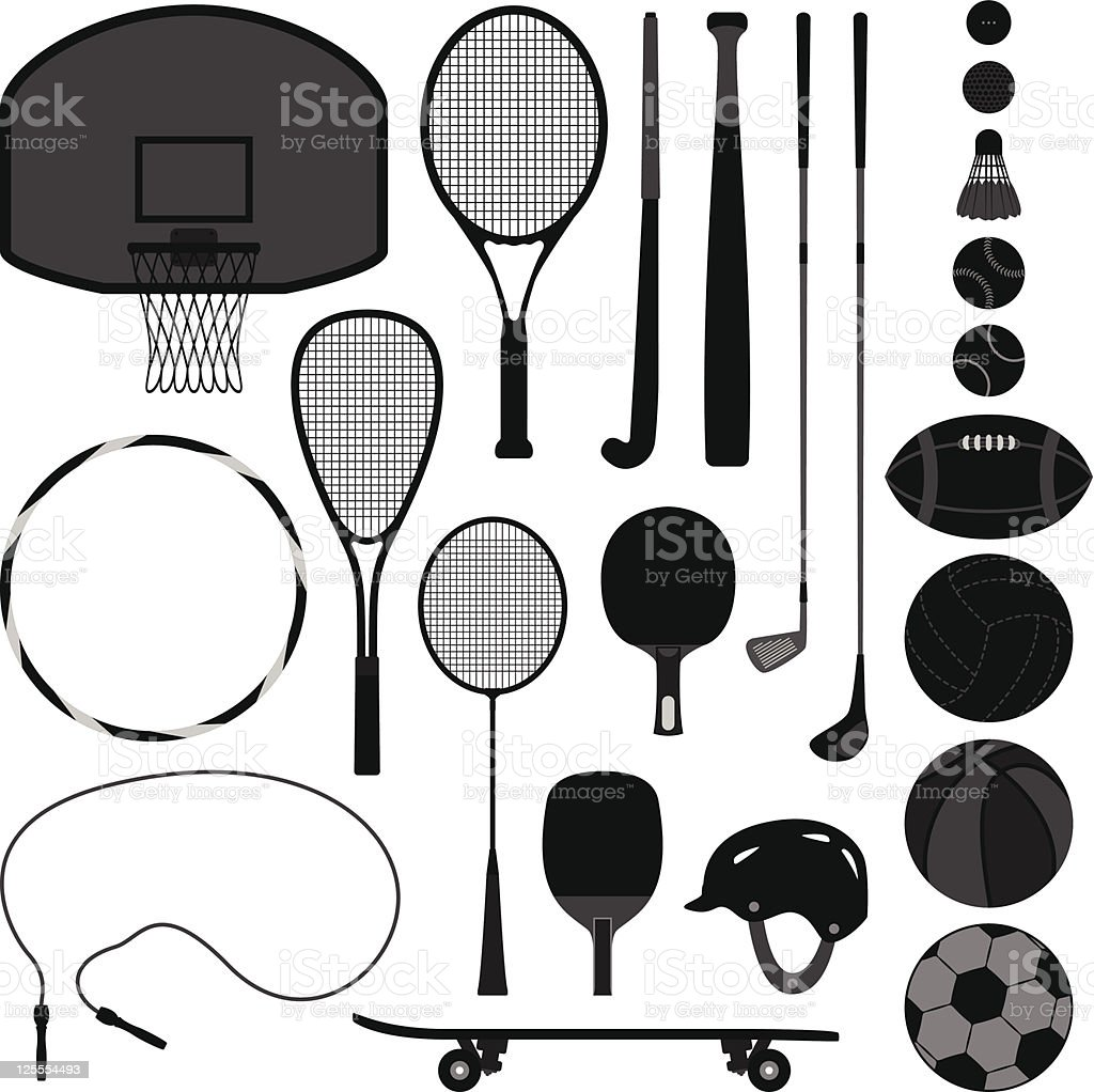 Sport Equipment Tool vector art illustration