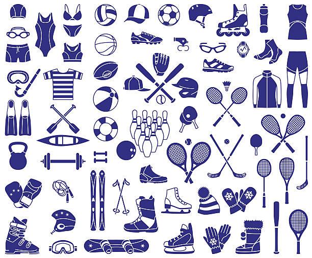 Sport equipment vector art illustration