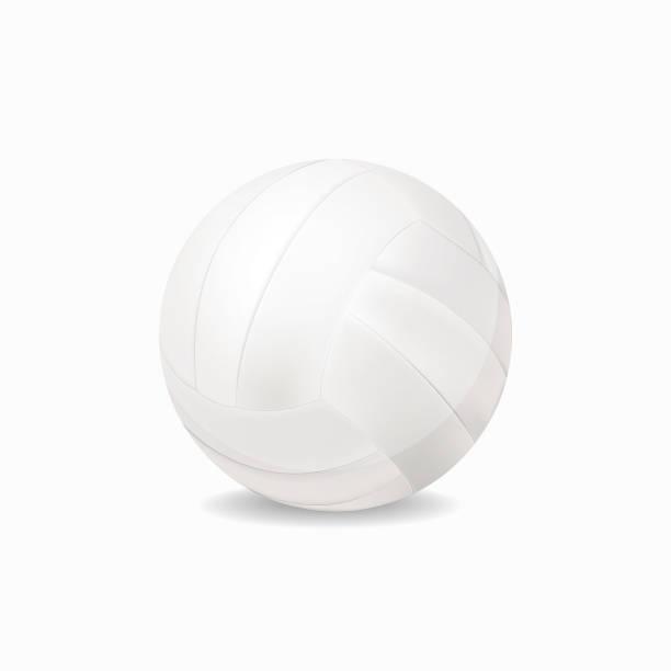 stockillustraties, clipart, cartoons en iconen met sportuitrusting, witte volleybal vector geïsoleerd geen witte achtergrond, illustratie. - netball