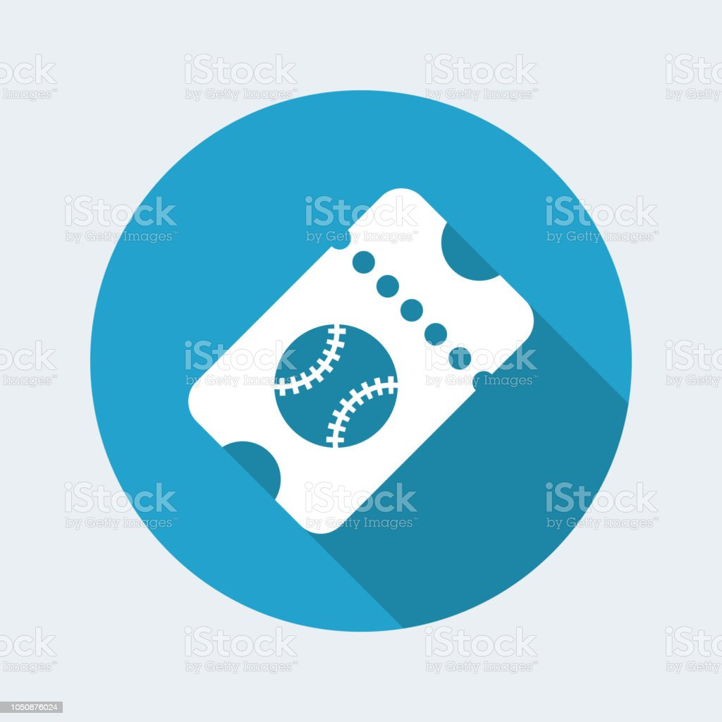 Sport event ticket - Vector web icon vector art illustration