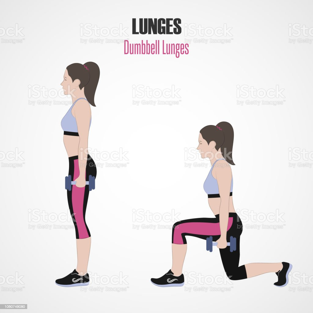 Image result for dumbbell lunges