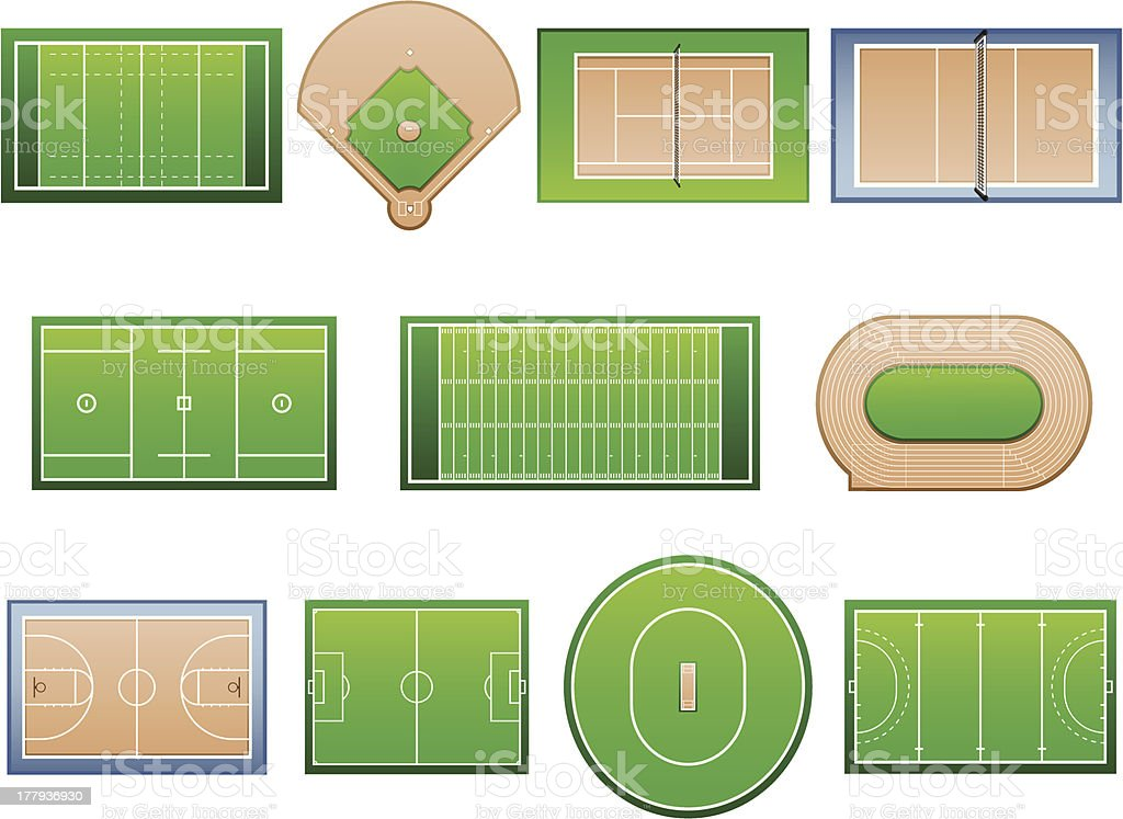 Sport Facilities vector art illustration