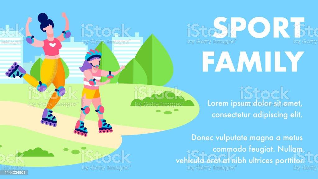 Ilustración De Banner Motivacional De La Familia Del Deporte