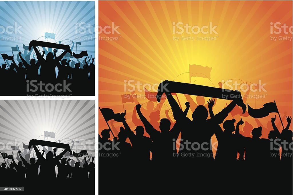 sport fans royalty-free stock vector art
