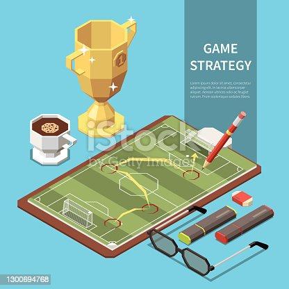 istock Sport Field Isometric Illustration 1300694768