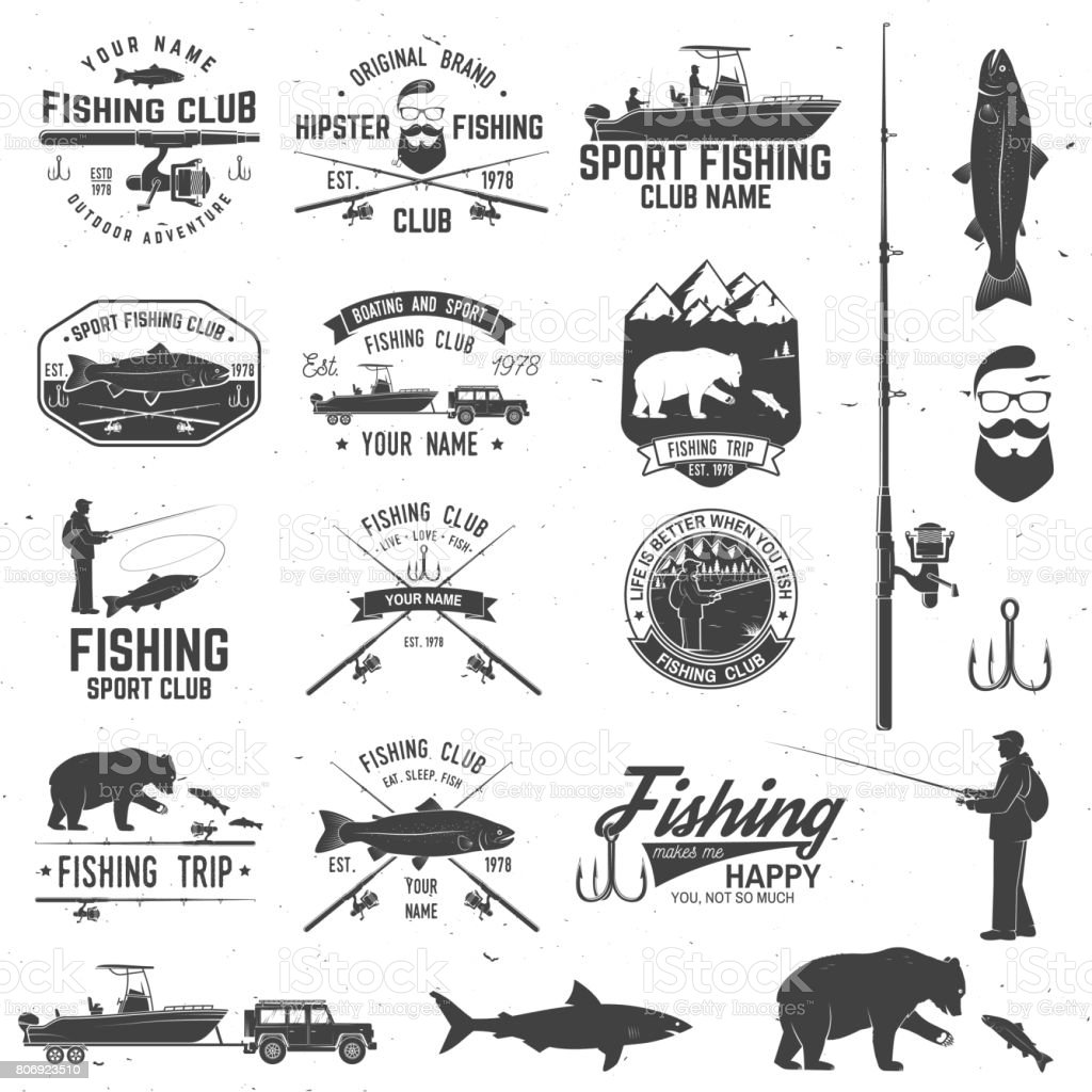 Sport Fishing club. Vector illustration vector art illustration