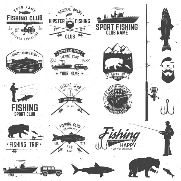 Sport Fishing club. Vector illustration vector art illustration
