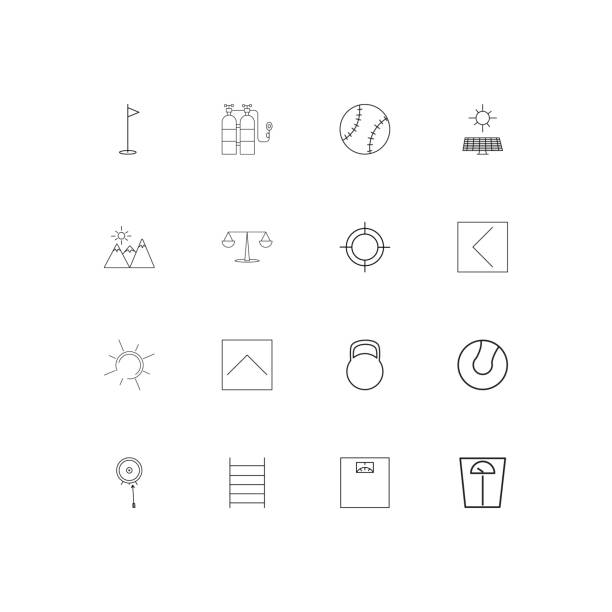 Sport Fitness And Recreation linear thin icons set. Outlined simple vector icons vector art illustration