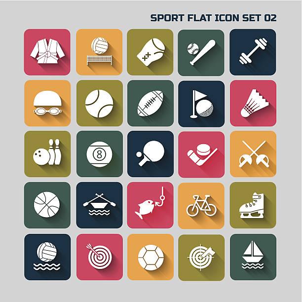 sport-flache icon set für web und mobile-set 02 – Vektorgrafik