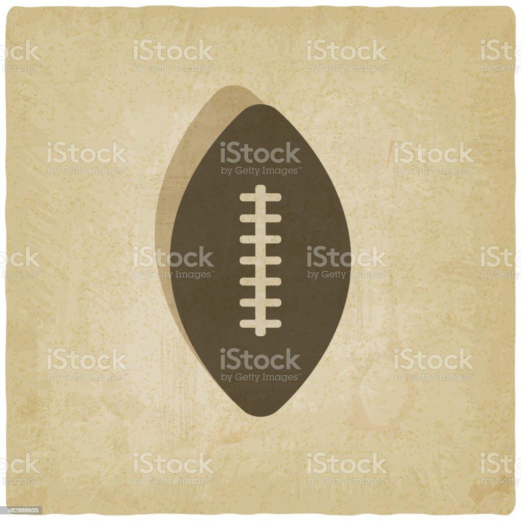sport football logo old background vector art illustration