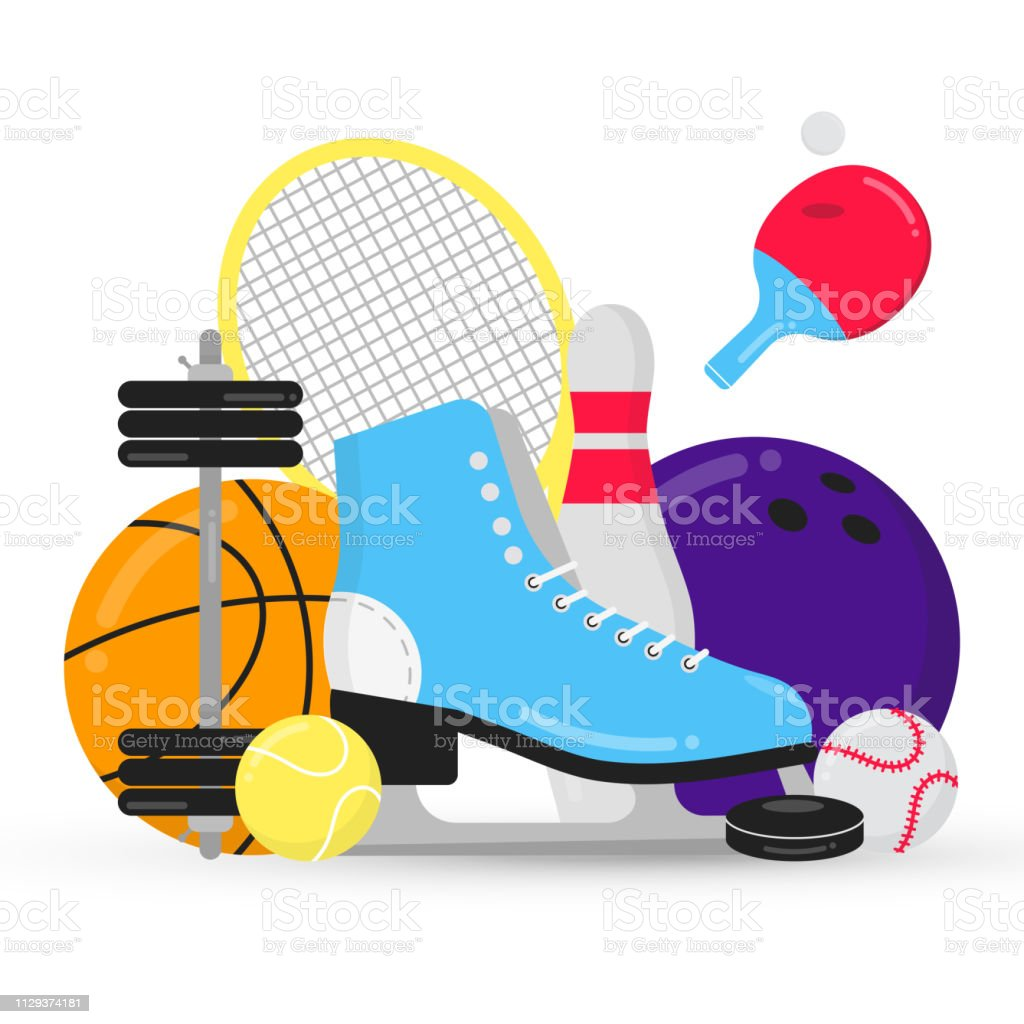 Sport gaming composition with balls - tennis, bowling, basketball....
