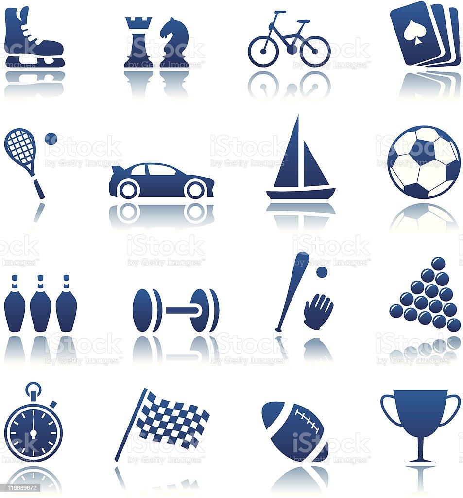 Sport & hobby icon set vector art illustration