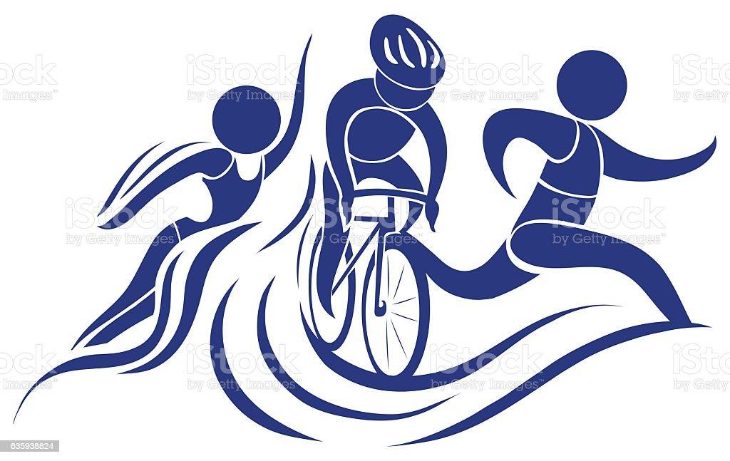 royalty free triathlon clip art vector images illustrations istock rh istockphoto com clip art triathlon girls olympic triathlon symbols clip art