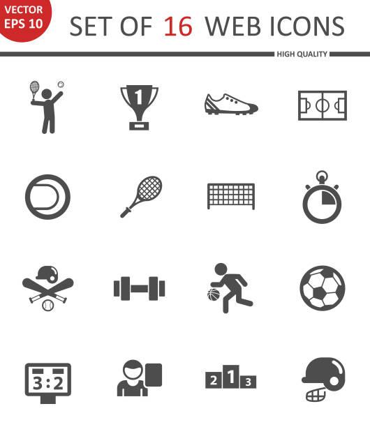 Sport-Icon-set – Vektorgrafik