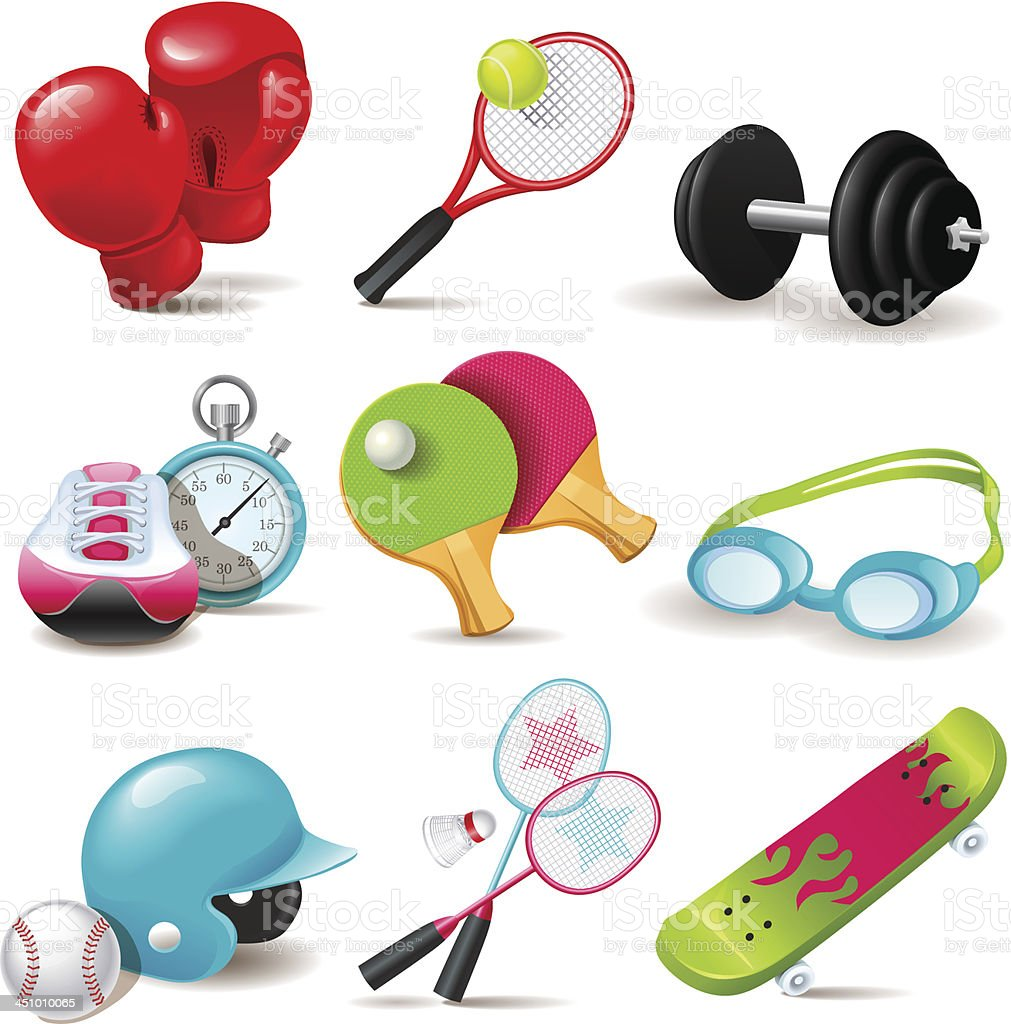 Sport icon set royalty-free sport icon set stock vector art & more images of badminton - sport