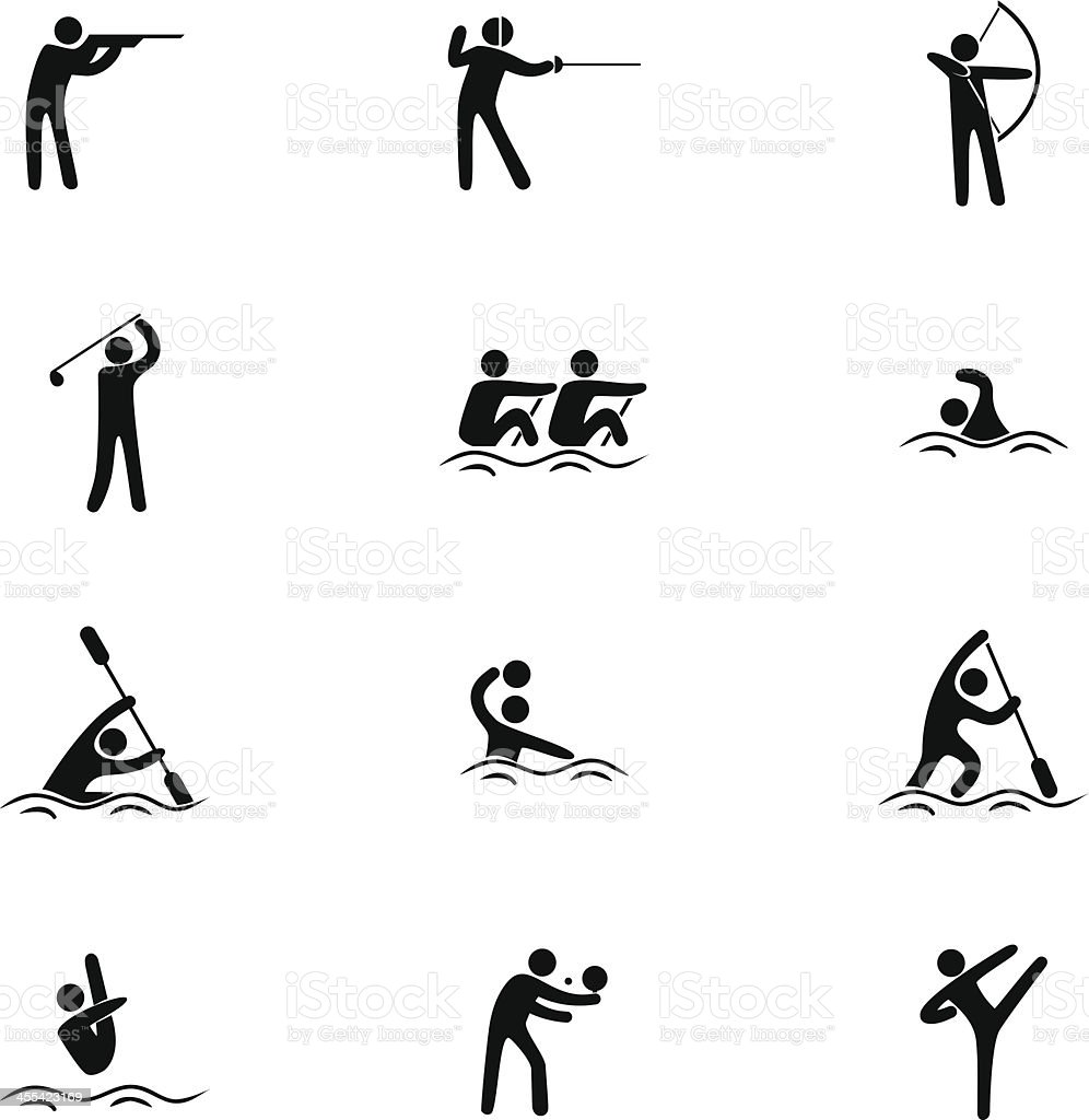 Sport Icon Set royalty-free sport icon set stock vector art & more images of aiming