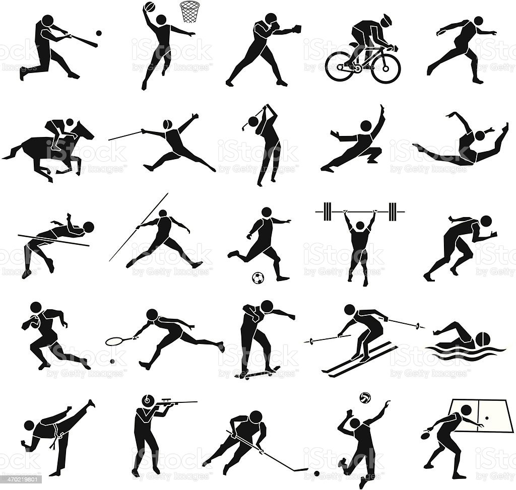sport icon set vector art illustration
