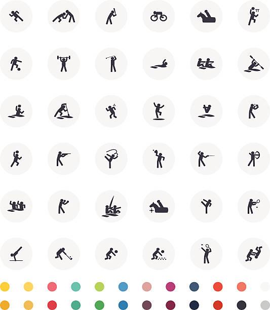 Ensemble d'icônes de Sport - Illustration vectorielle