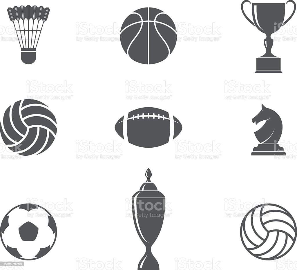 Sport. Icon set vector art illustration