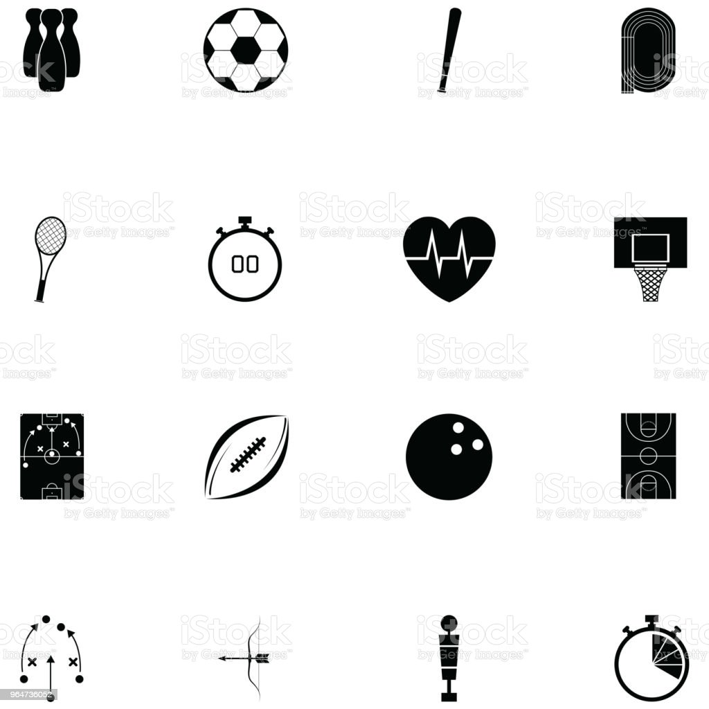 sport icon set royalty-free sport icon set stock vector art & more images of ball