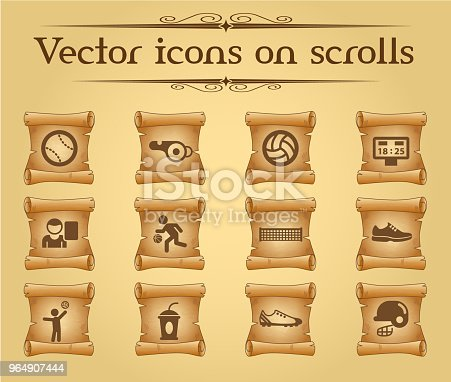 Sport Icon Set Stock Vector Art & More Images of American Football Player 964907444