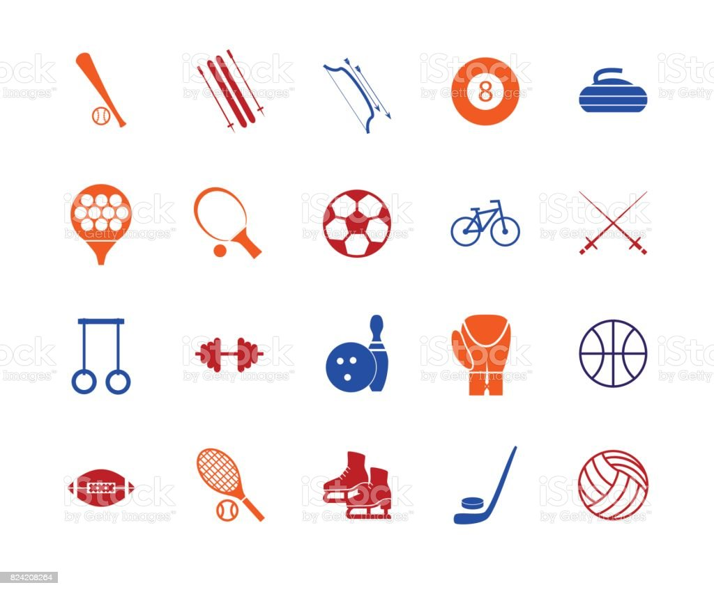 Sport icon signs and symbols color line set vector stock vector sport icon signs and symbols color line set vector royalty free sport icon signs biocorpaavc