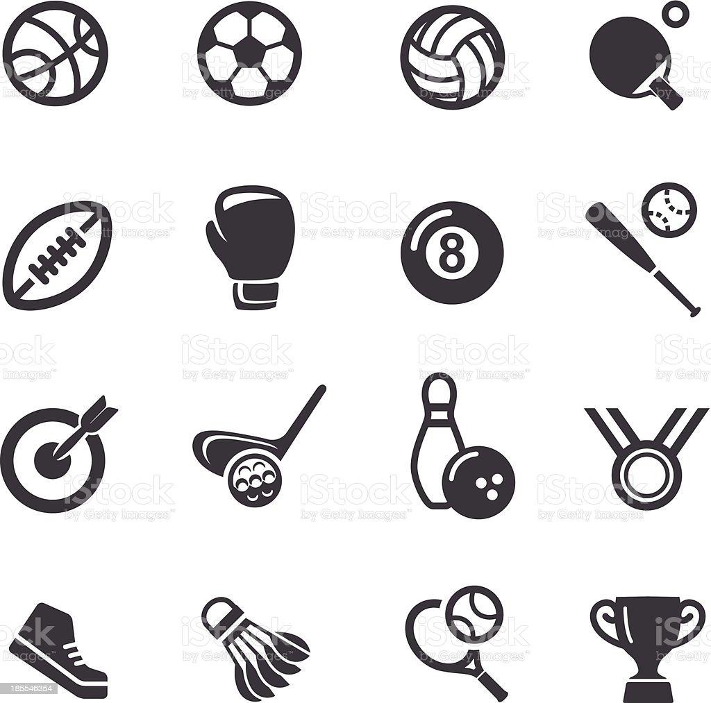 Iconos de deporte de Acme serie - ilustración de arte vectorial