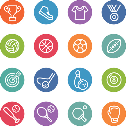 Sport Icons - Circle Line Series