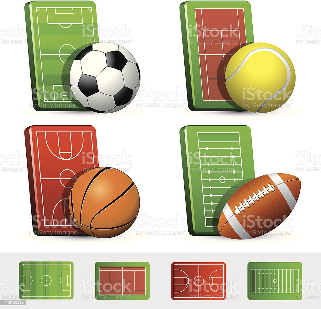 Sport icons collection royalty-free stock vector art
