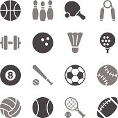 Sport Icons Gray Color