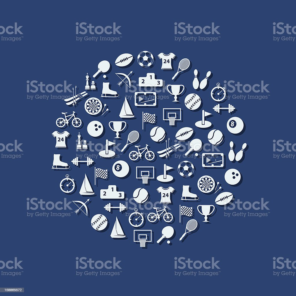 sport icons in circle royalty-free stock vector art