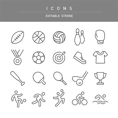 Sport Icons - Line Series
