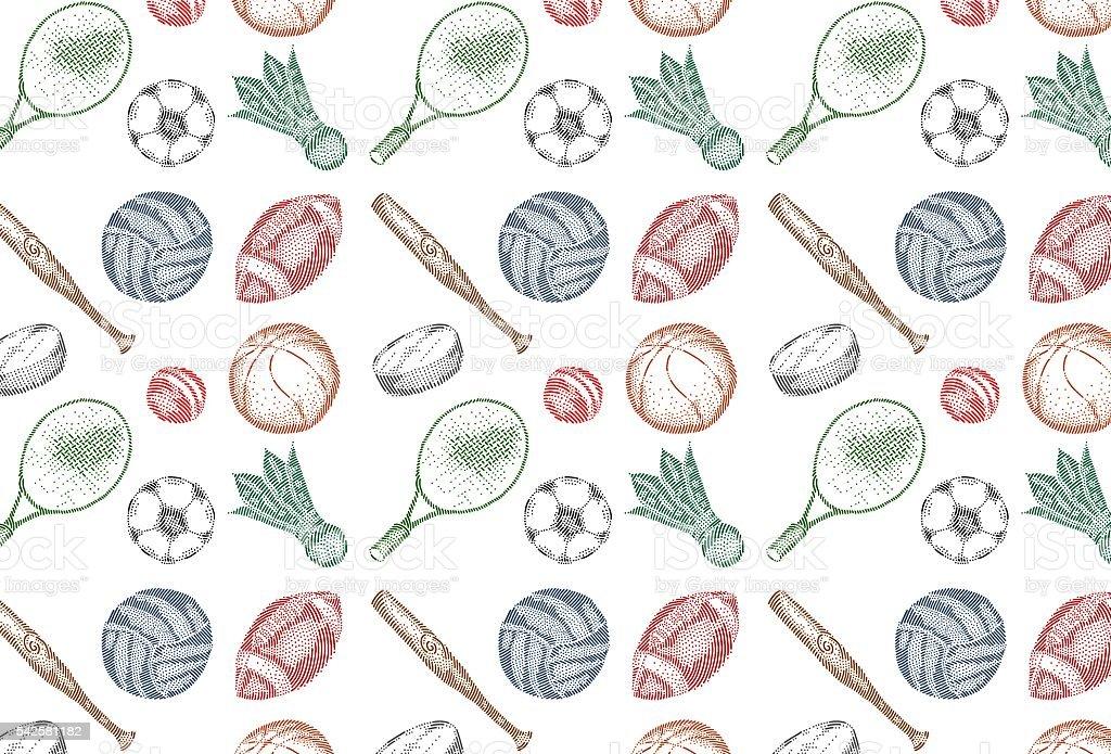 Sport icons pattern vector art illustration