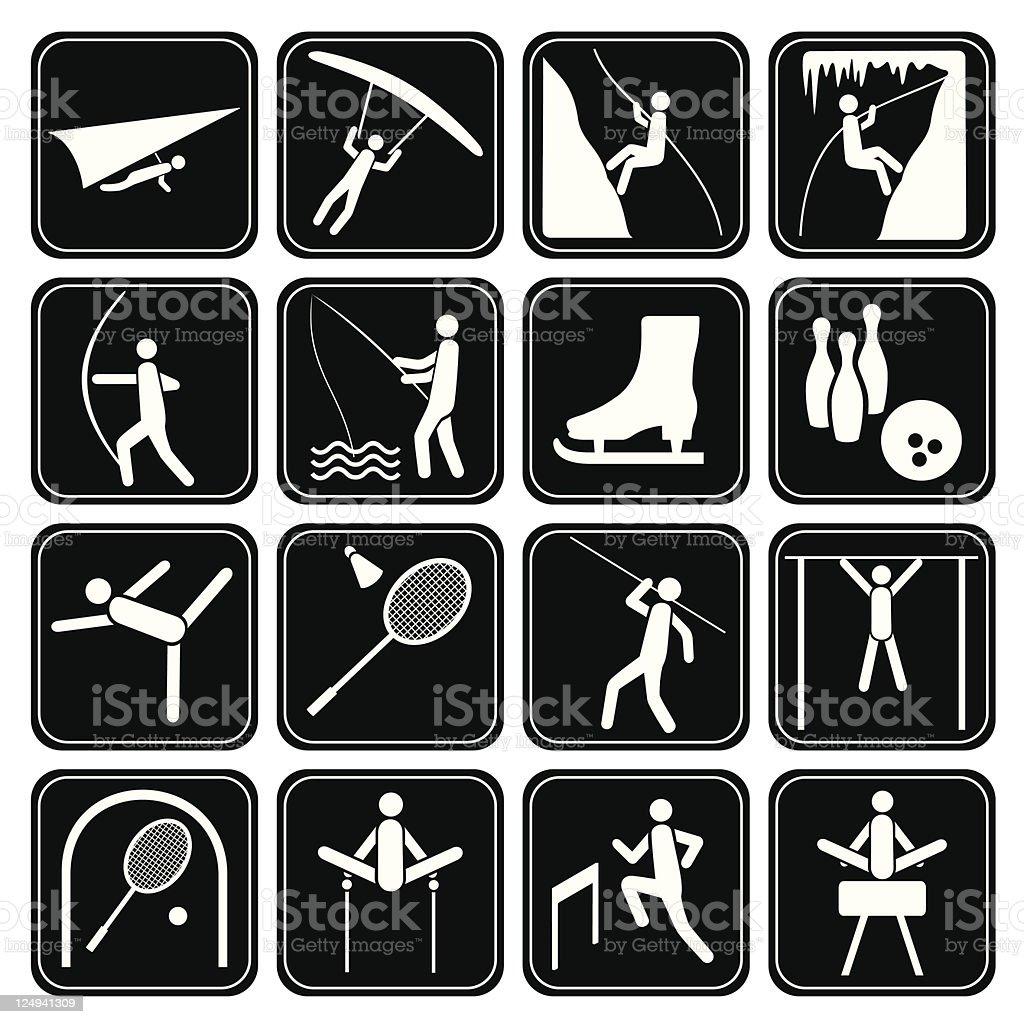 Sport icons set. vector art illustration