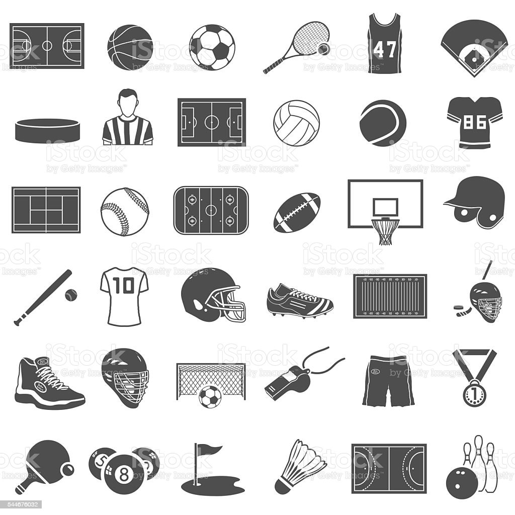 Sport Icons Set vector art illustration