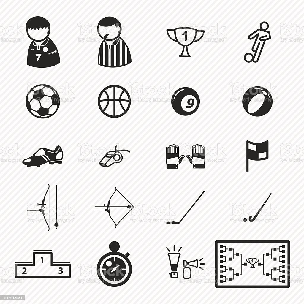 Sport icons set.illustration eps10 vector art illustration