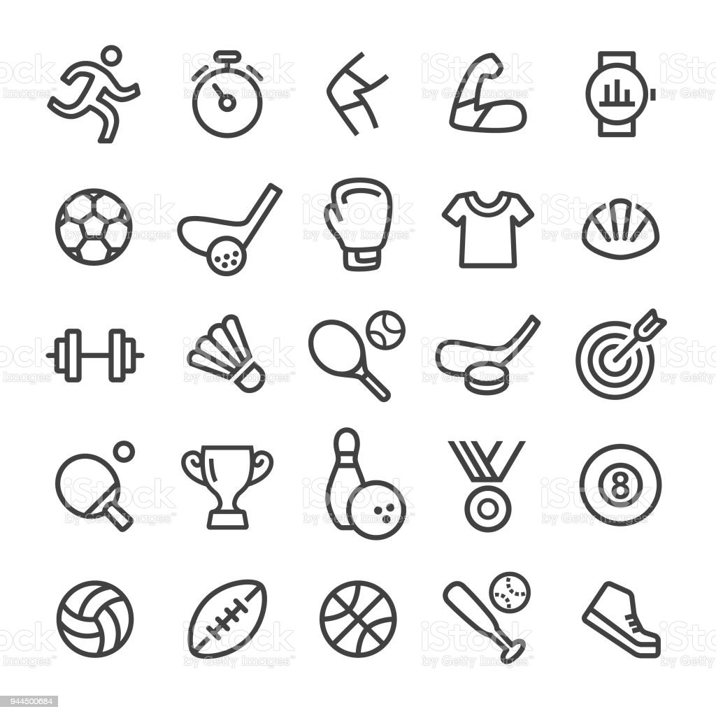 Sport Icons - Smart Line Series vector art illustration