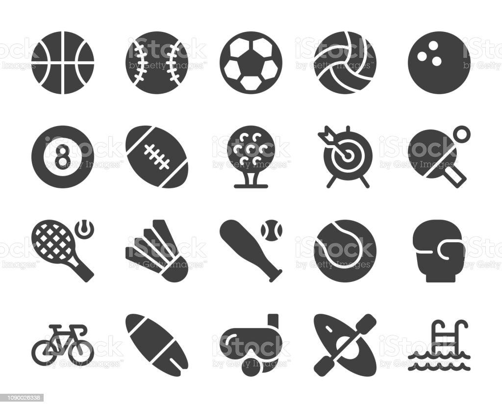 Sport - Icons vector art illustration