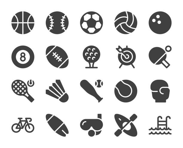 Sport - Icons Sport Icons Vector EPS File. basketball stock illustrations