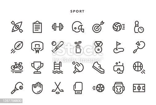 Sport Icons - Vector EPS 10 File, Pixel Perfect 28 Icons.