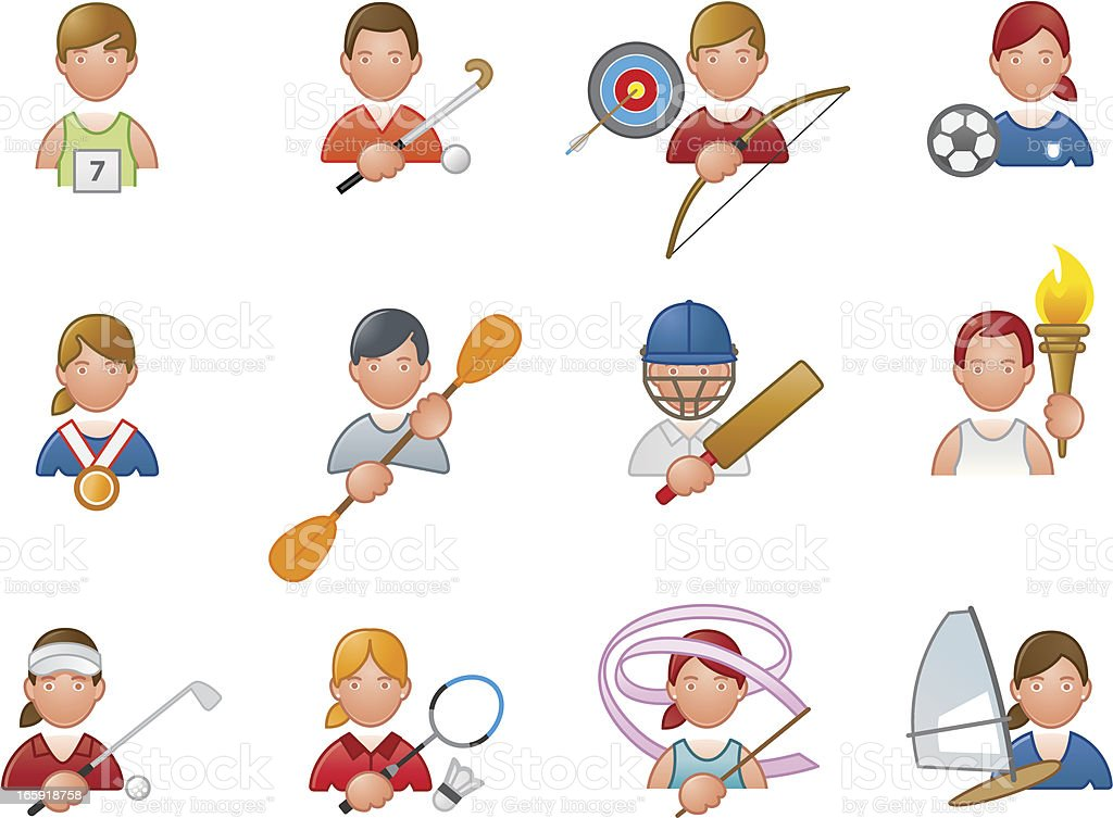 Sport icons royalty-free stock vector art