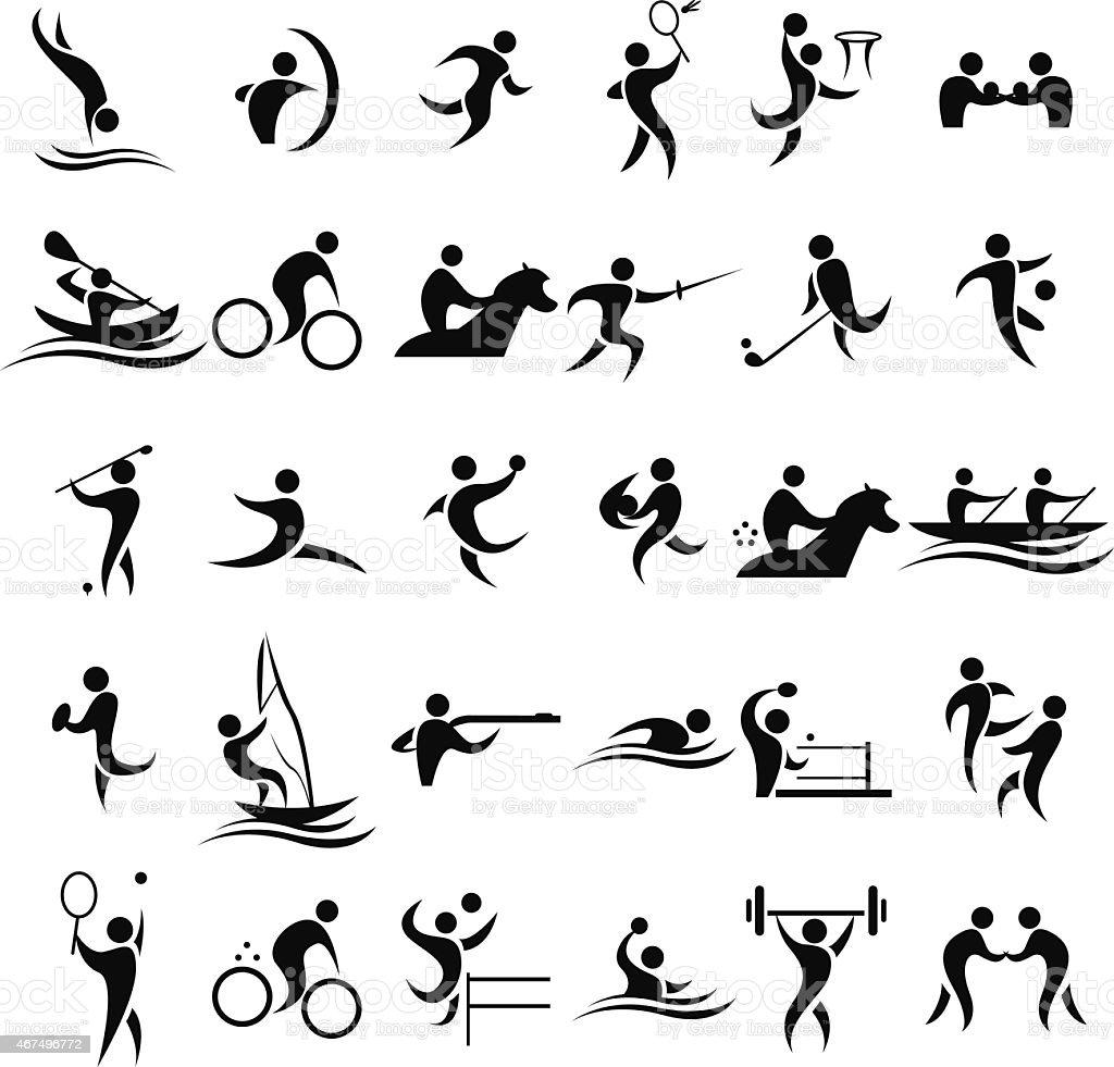 Ícones do esporte - ilustração de arte em vetor