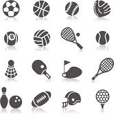 A collection of different kinds of sport icons. It contains hi-res JPG, PDF and Illustrator 9 files.