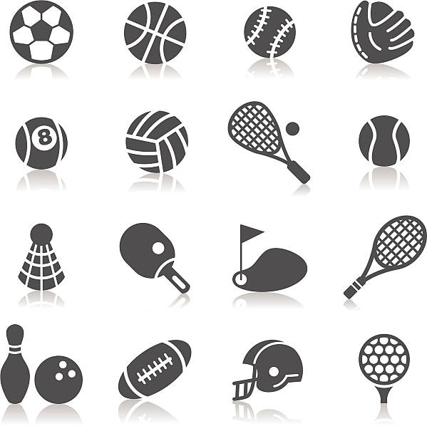 Sport Icons A collection of different kinds of sport icons. It contains hi-res JPG, PDF and Illustrator 9 files. racket stock illustrations