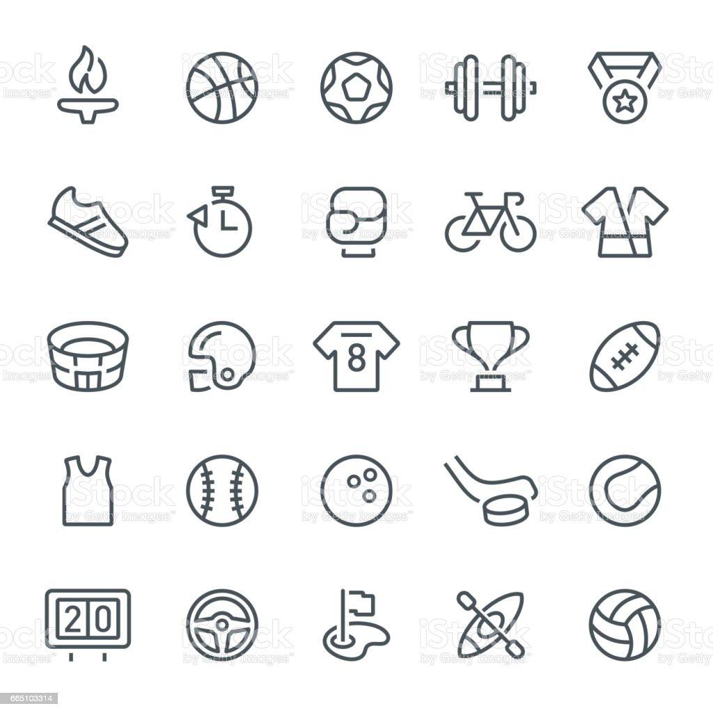 Icônes de Sport - Illustration vectorielle