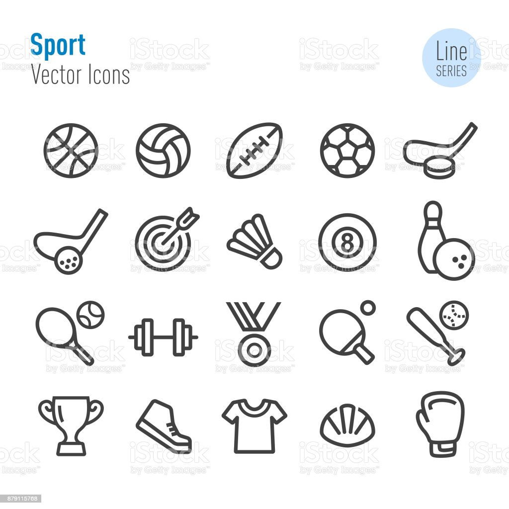 Sport Icons - Vector Line Series